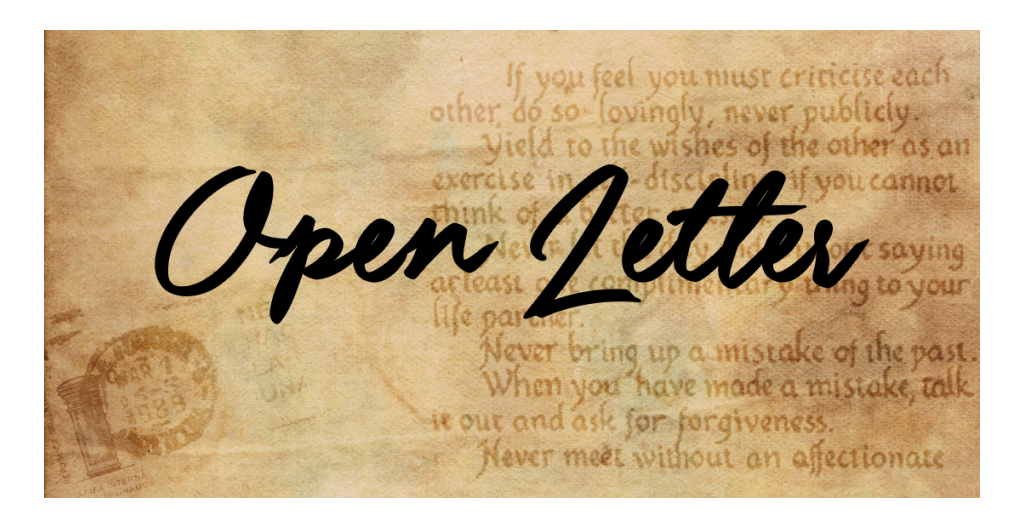 An Open Letter Multiple Mistakes